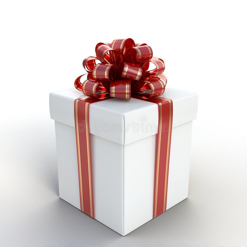 Gift Box White stock photography