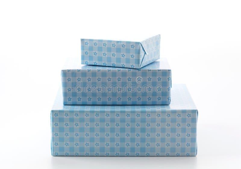 Gift box. On white background stock photography