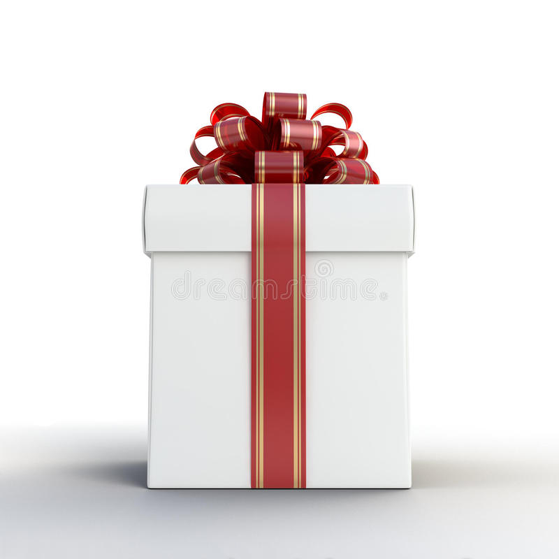 Gift Box White royalty free stock photography