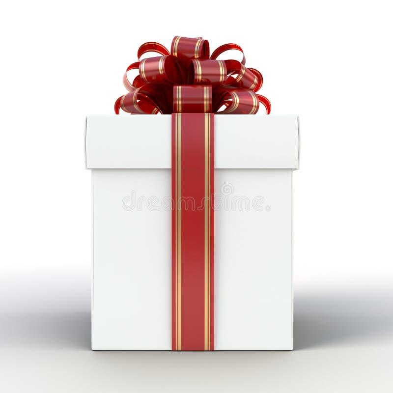 Gift Box White stock image