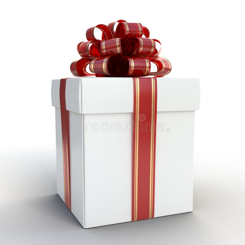 Gift Box White stock images