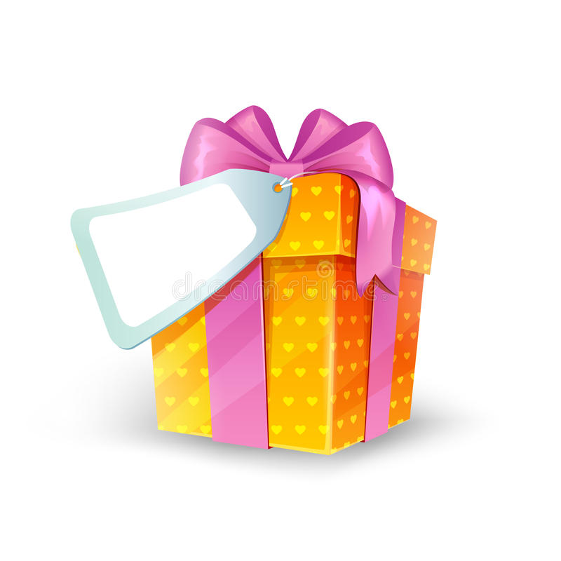 Free Gift Box With Bow Royalty Free Stock Photos - 46900778