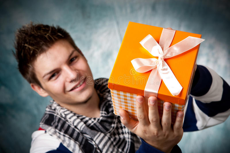 Download Gift box stock photo. Image of background, adult, smiling - 30500002
