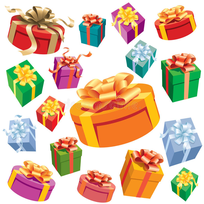 Download Gift boxes stock vector. Image of design, party, decoration - 10446129