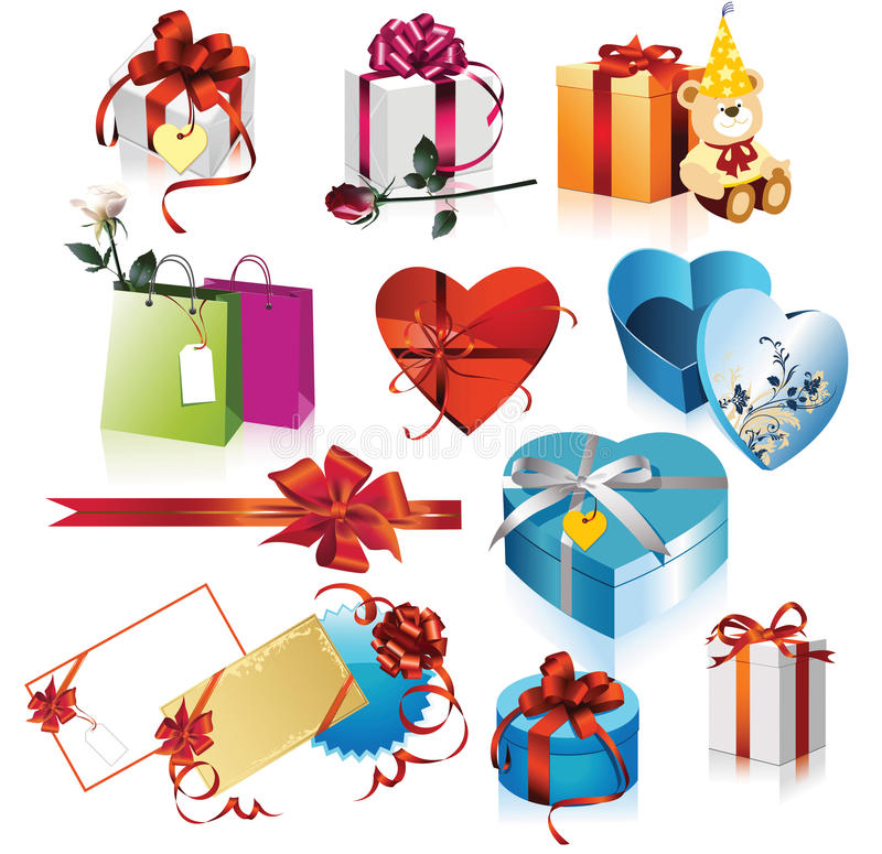 Download Gift boxes stock vector. Image of package, birthday, christmas - 11176294