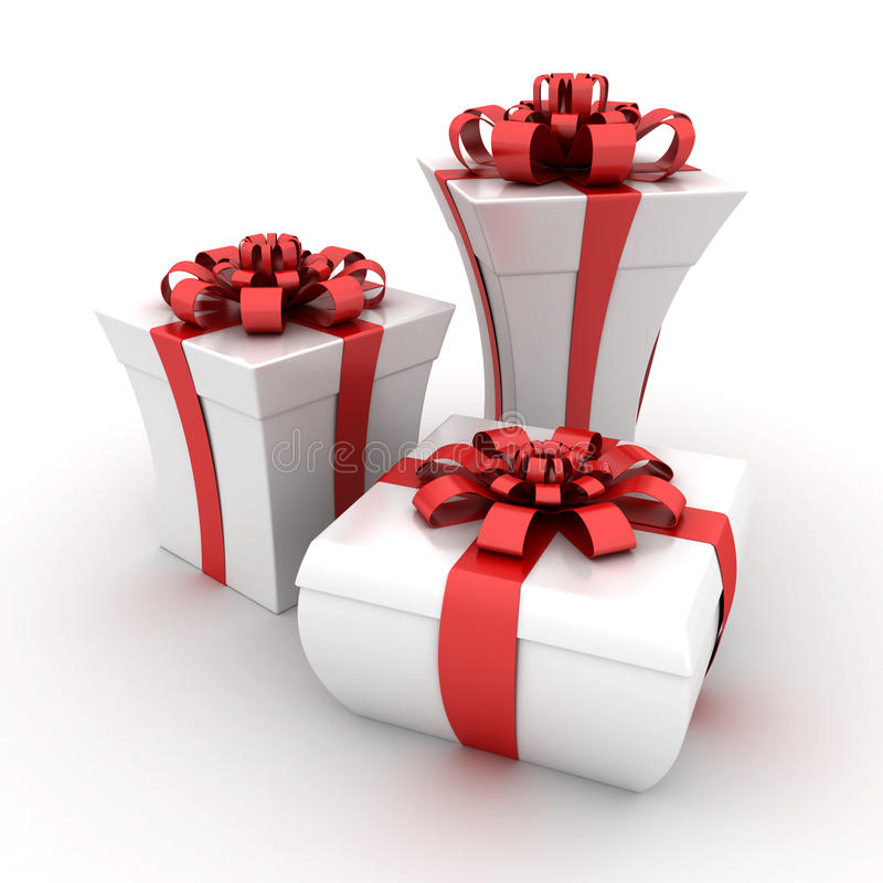 Gift boxes. This is a 3D rendered picture stock illustration