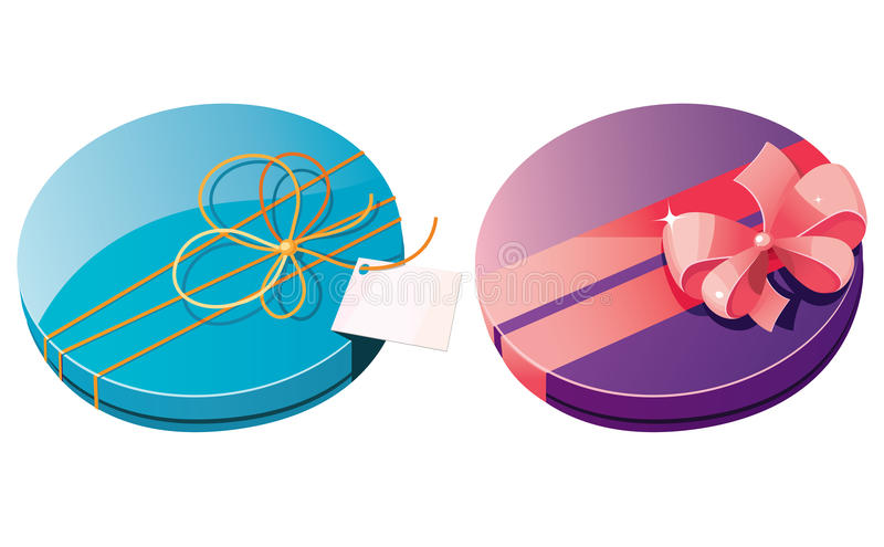 Gift boxes. Bitmap picture with additional vector file stock illustration