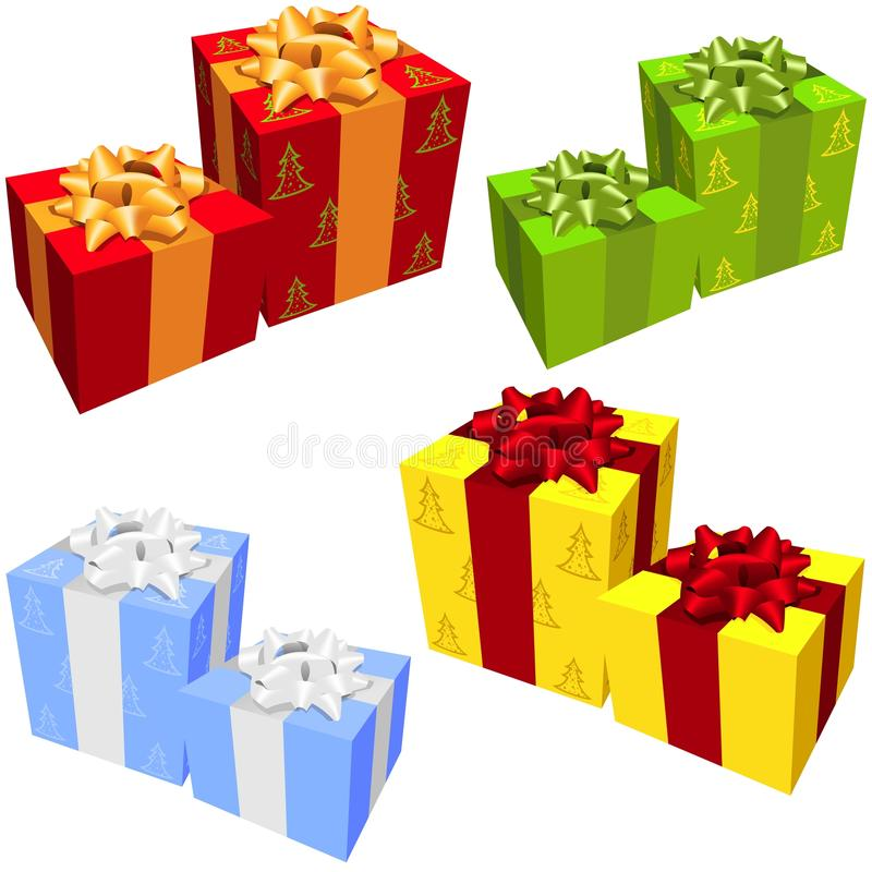 Download Gift Boxes stock vector. Image of ribbon, wrapping, holiday - 27429871
