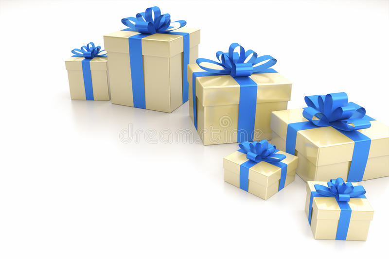 Gift Boxes Blue Royalty Free Stock Photo