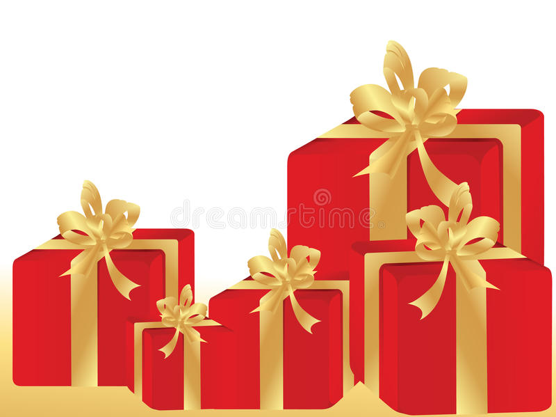Gift Boxes With Copyspace For Text Stock Photo