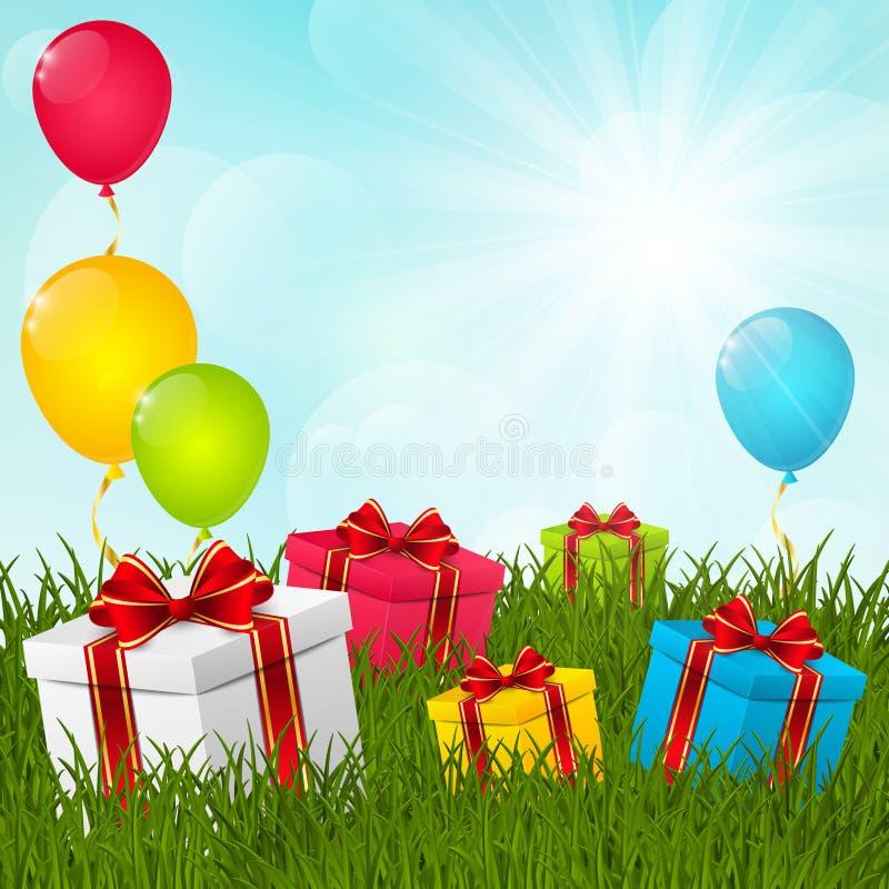 Gift boxes stock illustration