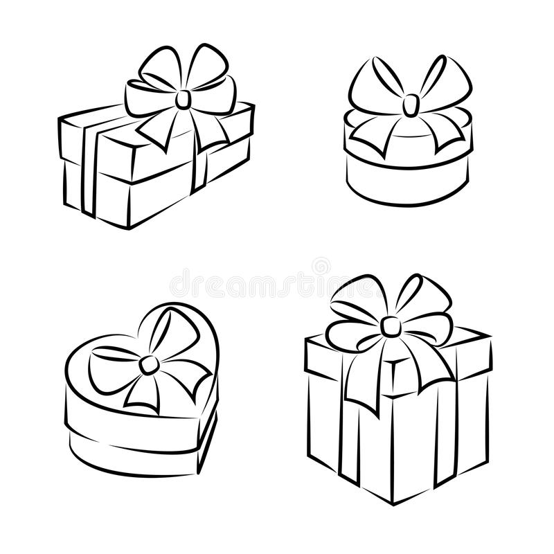 Gift Boxes Stock Vector Image Of Design Clipart Icon