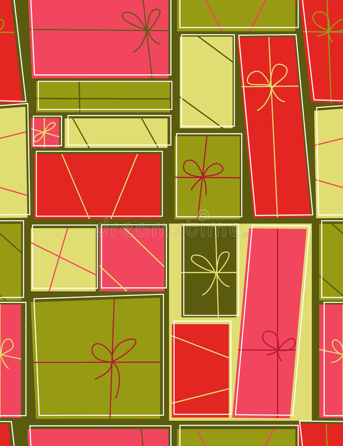 Free Gift Boxes - Seamless Pattern Royalty Free Stock Photography - 8077977