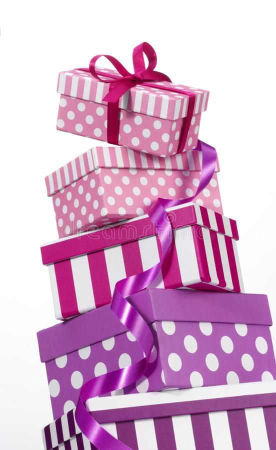 Download Gift Boxes stock image. Image of spotted, polka, ribbon - 43699405
