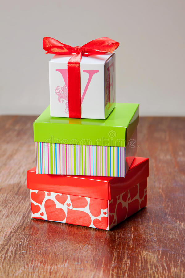 Gift boxes stock images