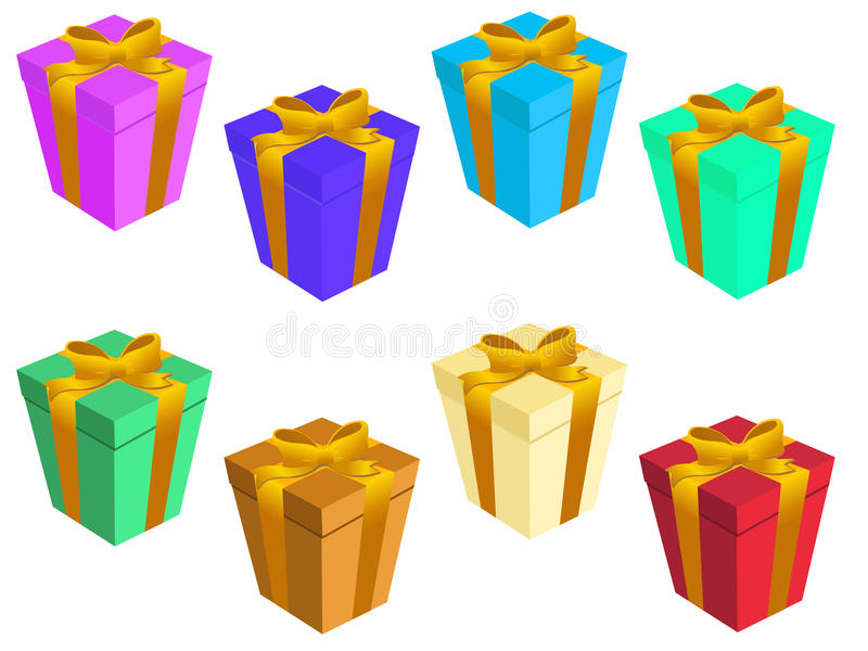 Download Gift boxs stock vector. Illustration of present, gold - 11065457