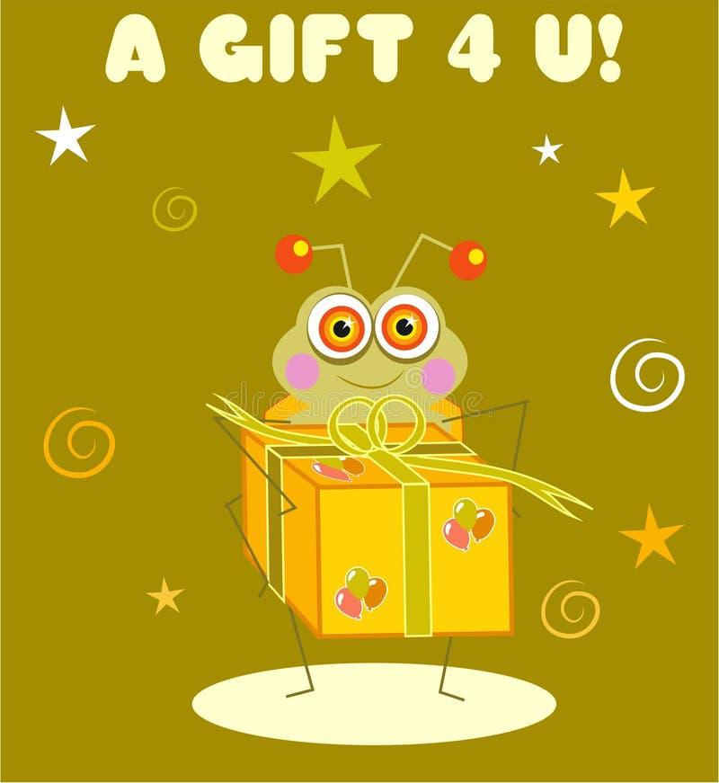 Gift Bug stock illustration