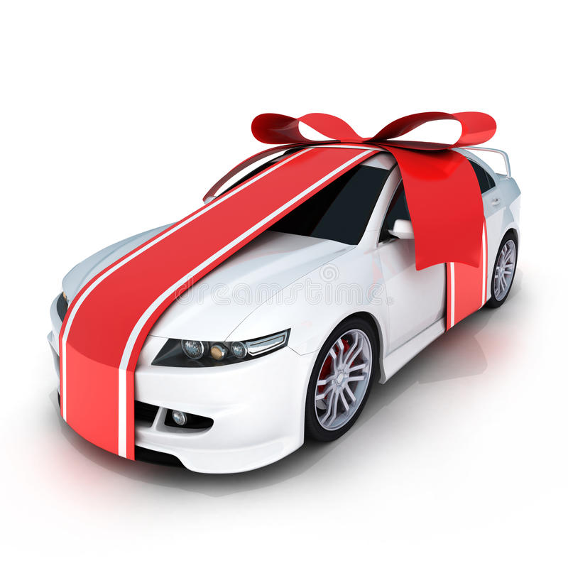 Gift car stock illustration