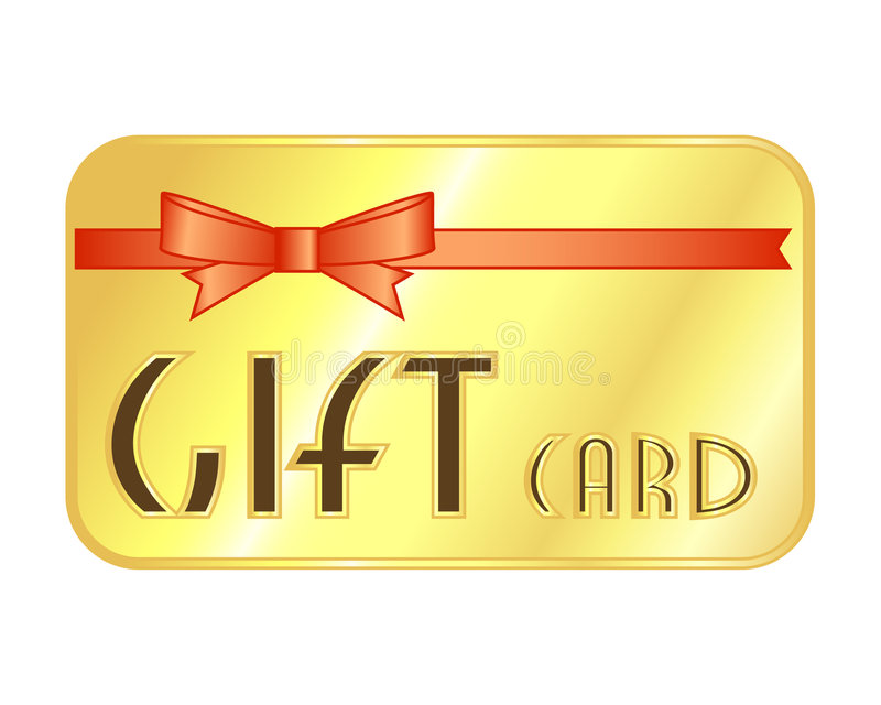 Gift Card royalty free illustration
