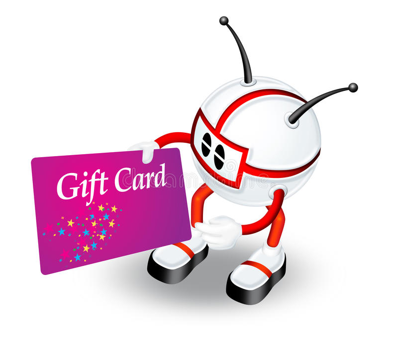 Download Gift card stock illustration. Image of humanoid, business - 12615933