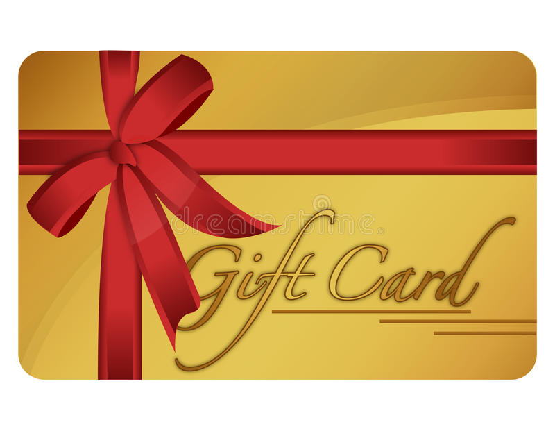 Gift Card. Gold generic gift card. Vector File available