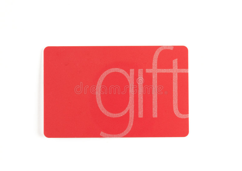Gift card. A Gift card on white stock photo