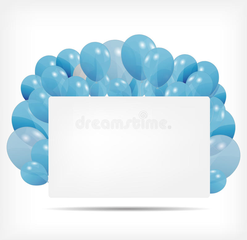 Gift Card With Balloons Vector Illustration Royalty Free Stock Photography
