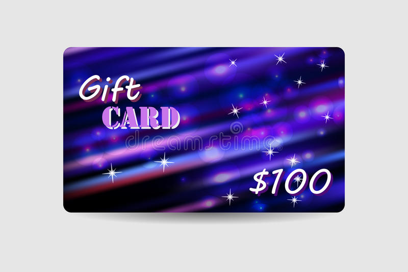 Gift card, coupon, discount card stock illustration