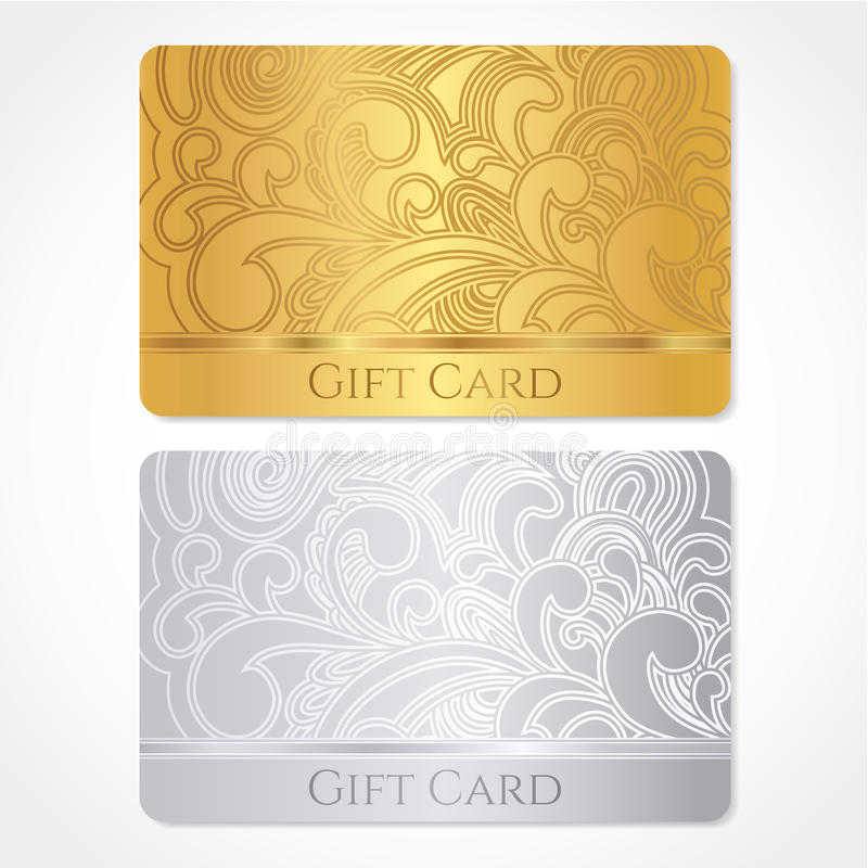 Gift card / Discount card / Business card. Pattern stock photo