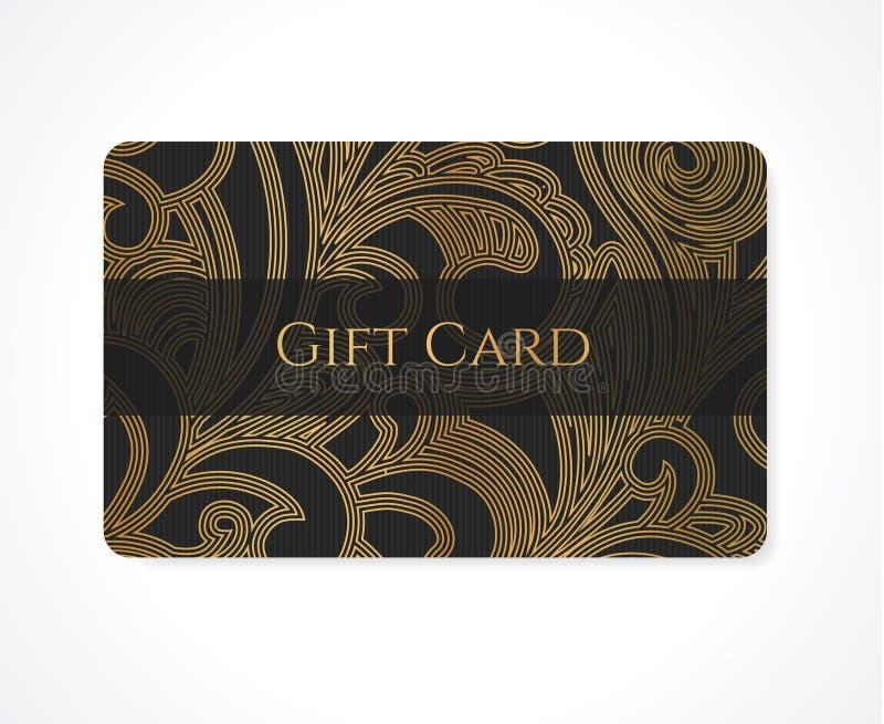 Gift card / Discount card / Business card. Scroll stock photos