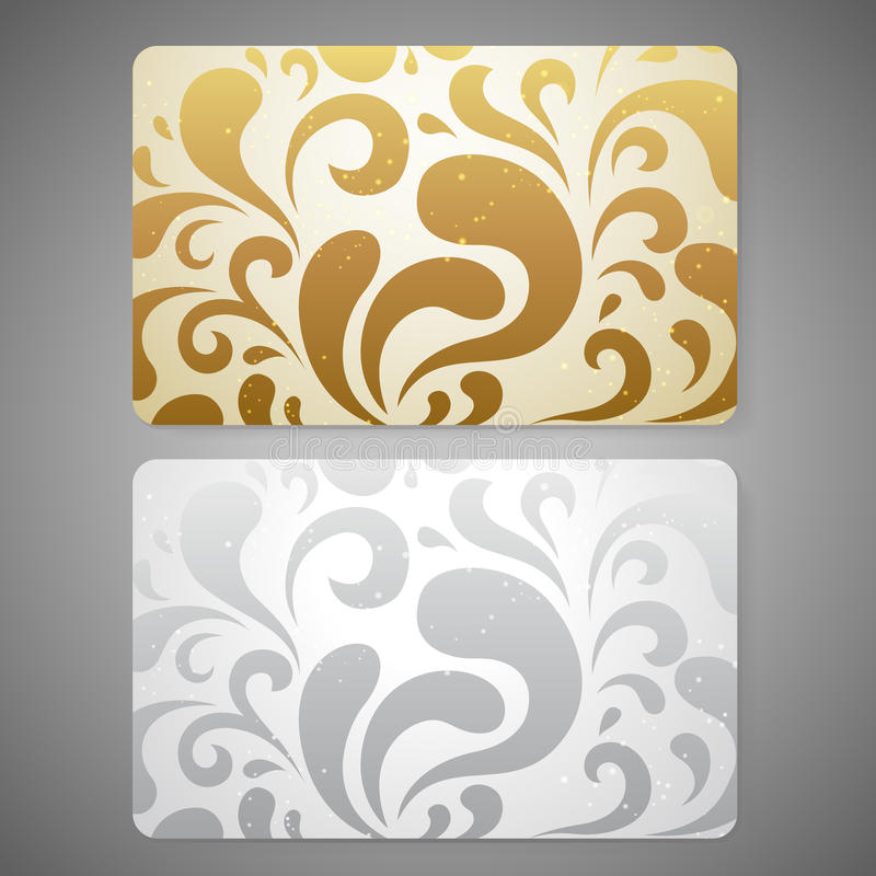 Gift Card / Discount Card / Business Card. Scroll Stock Vector ...