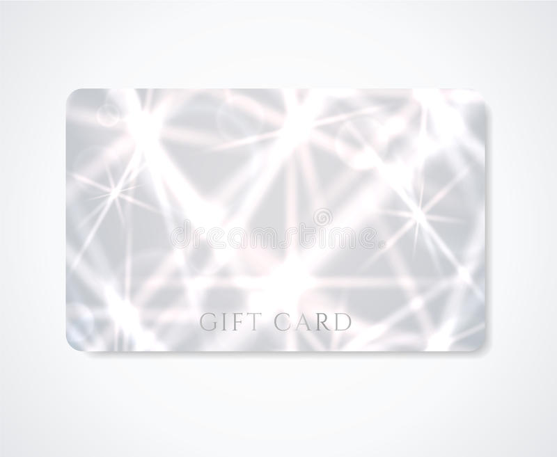 Gift card / Discount card / Business card. Star stock photography