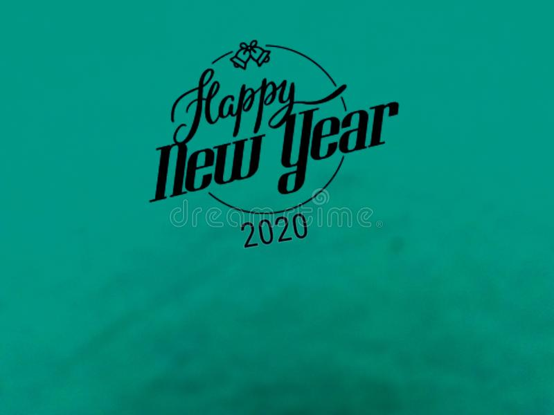This is a gift card of happy new year 2020, vector. royalty free illustration