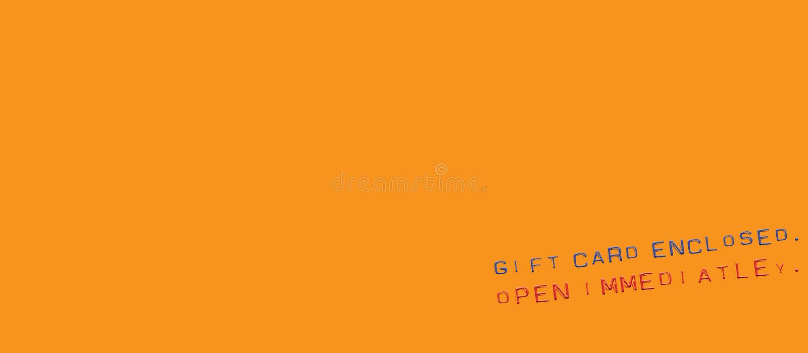 Gift card message
