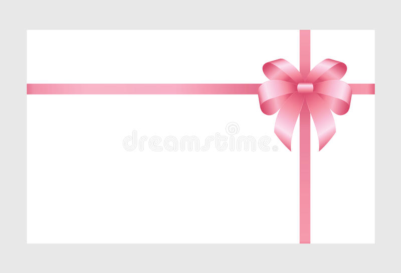 Gift card with pink ribbon and a bow stock vector illustration download gift card with pink ribbon and a bow stock vector illustration of celebration pronofoot35fo Gallery