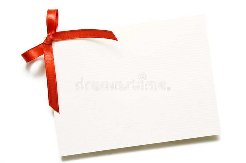 Download Gift Card With Red Bow Stock Photos - Image: 27894723