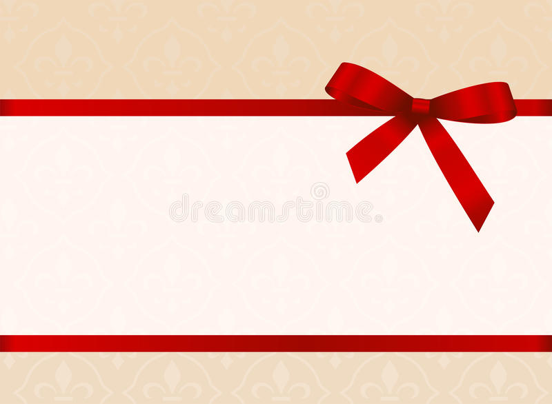 Gift card with red ribbon and a bow invitation vector image stock download gift card with red ribbon and a bow invitation vector image stock vector stopboris Gallery