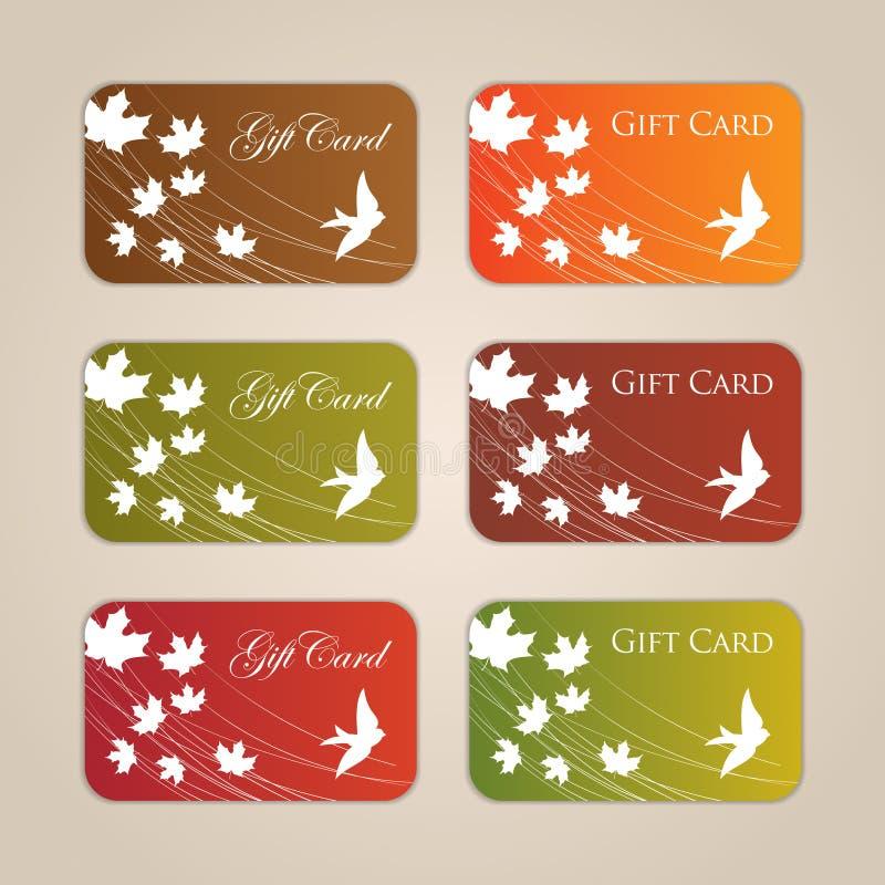 Gift Card Set stock illustration