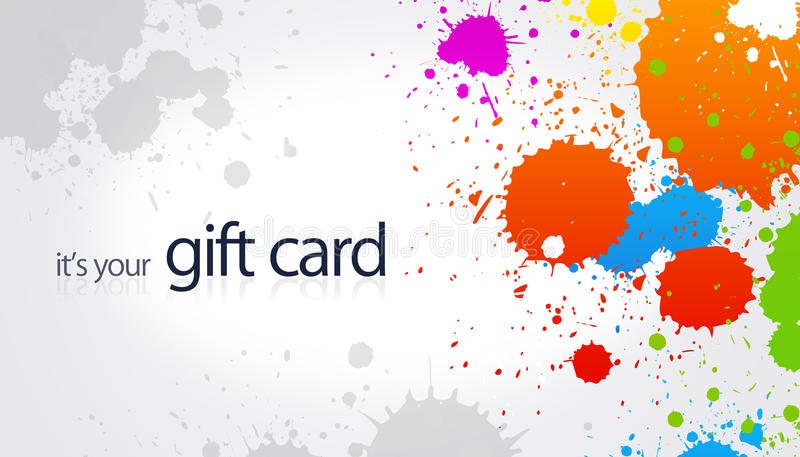Gift Card - Splash royalty free illustration