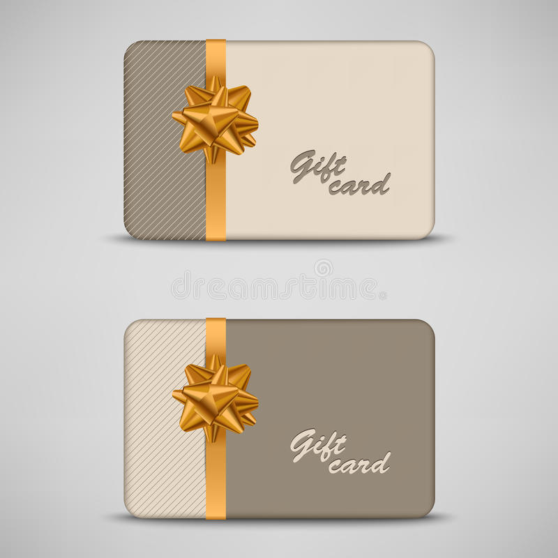 Gift card with stripes and bow