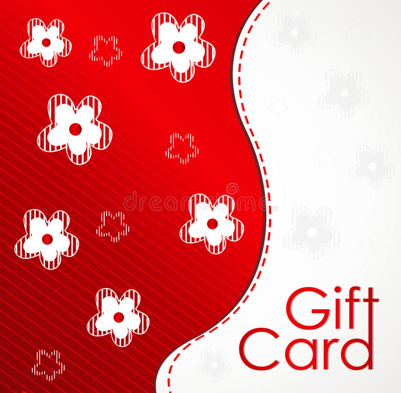 Gift card template with flower design royalty free stock image