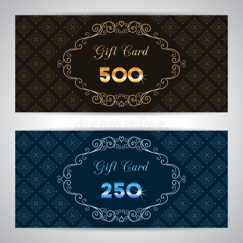 Gift card template vector illustration