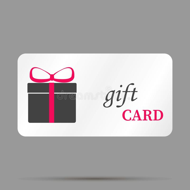 Gift card vector image. A gift card store. Layers grouped for ea stock illustration