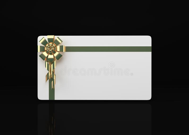 Gift Card On White 3d Render. Gift Card Isolated On White Background With Clipping Path 3d Render.a thing given willingly to someone without payment; a present vector illustration