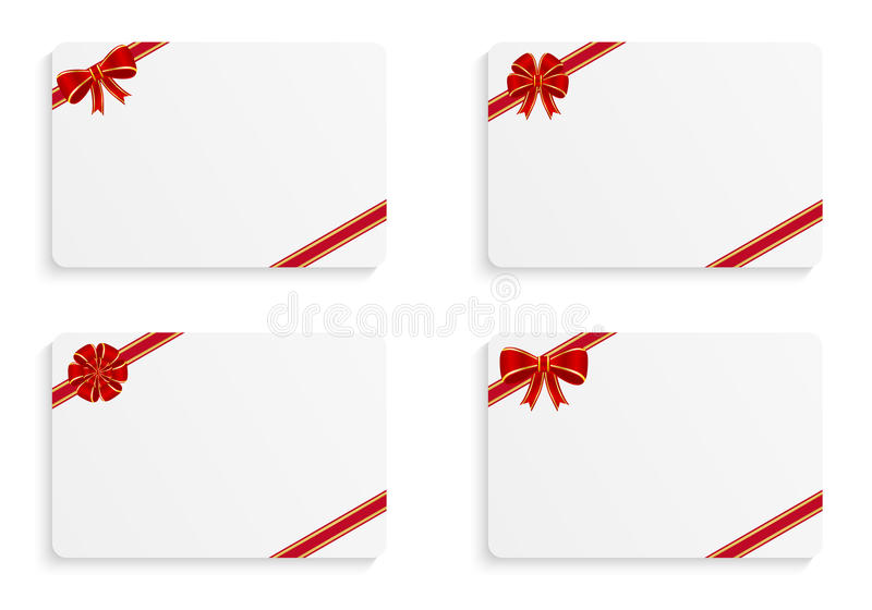 Gift cards vector illustration