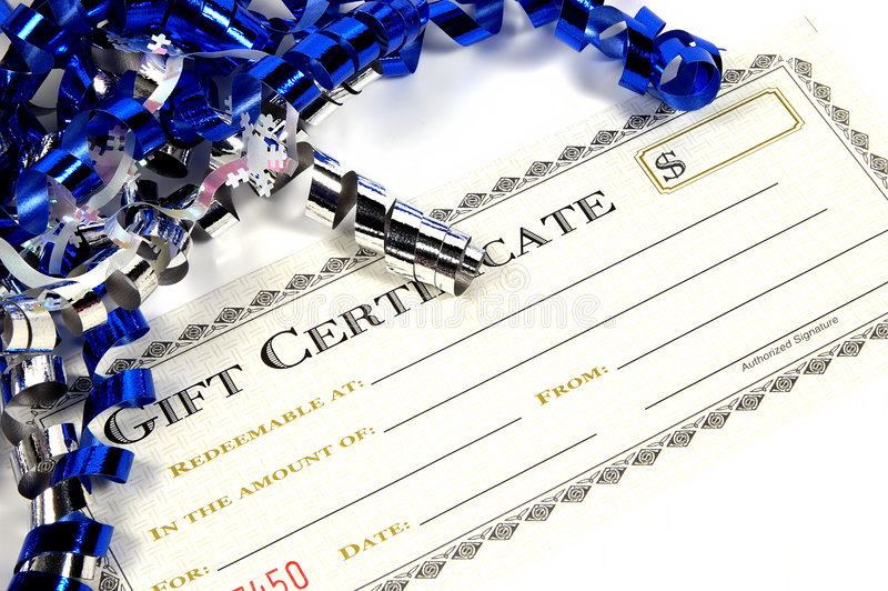 Gift Certificate stock photos