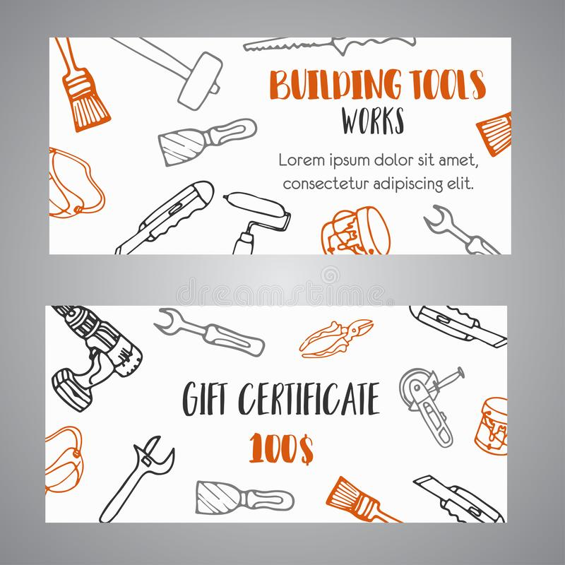 Gift Certificate For Building Tools Store Home Improvement