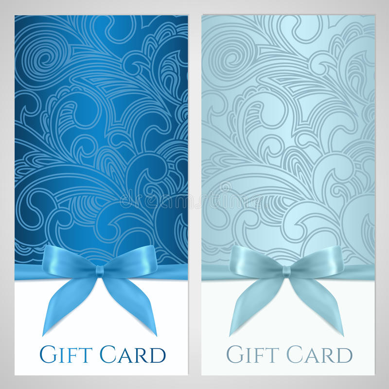 Gift certificate, gift card, Coupon template stock photography