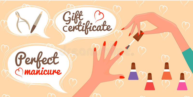 Manicure Gift Certificate Template Gallery Template Design Free