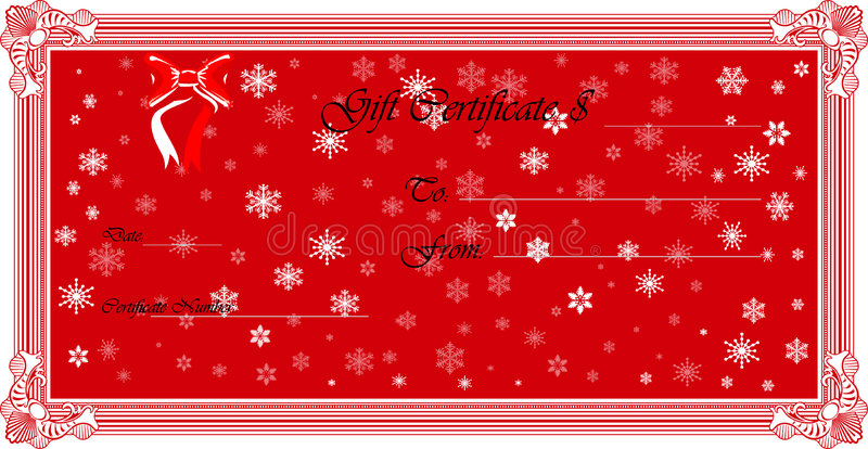 Gift Certificate (Vector) royalty free stock photography